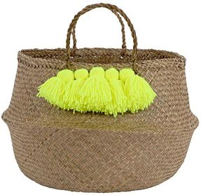 merimeri tassle basket (yellow)